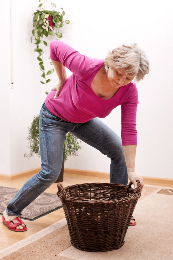 Picking up Laundry Basket Hip Pain