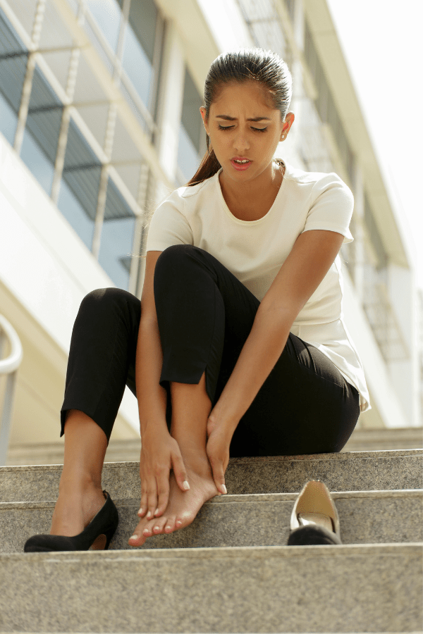 Sitting on Stairs Foot and Ankle Pain