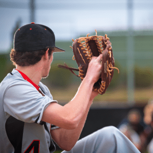 Baseball pitcher about to throw the ball